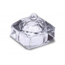 Paharel de sticla cu capac