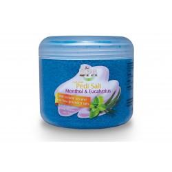 Sare fina de baie pentru picioare - Menthol cu eucalipt - 550 ml
